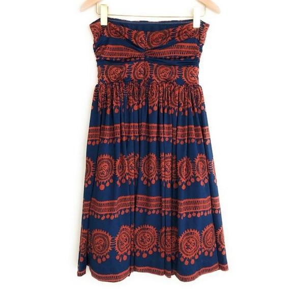 Anthropologie Dresses & Skirts - Anthropologie Blue/Orange Girls From Savoy